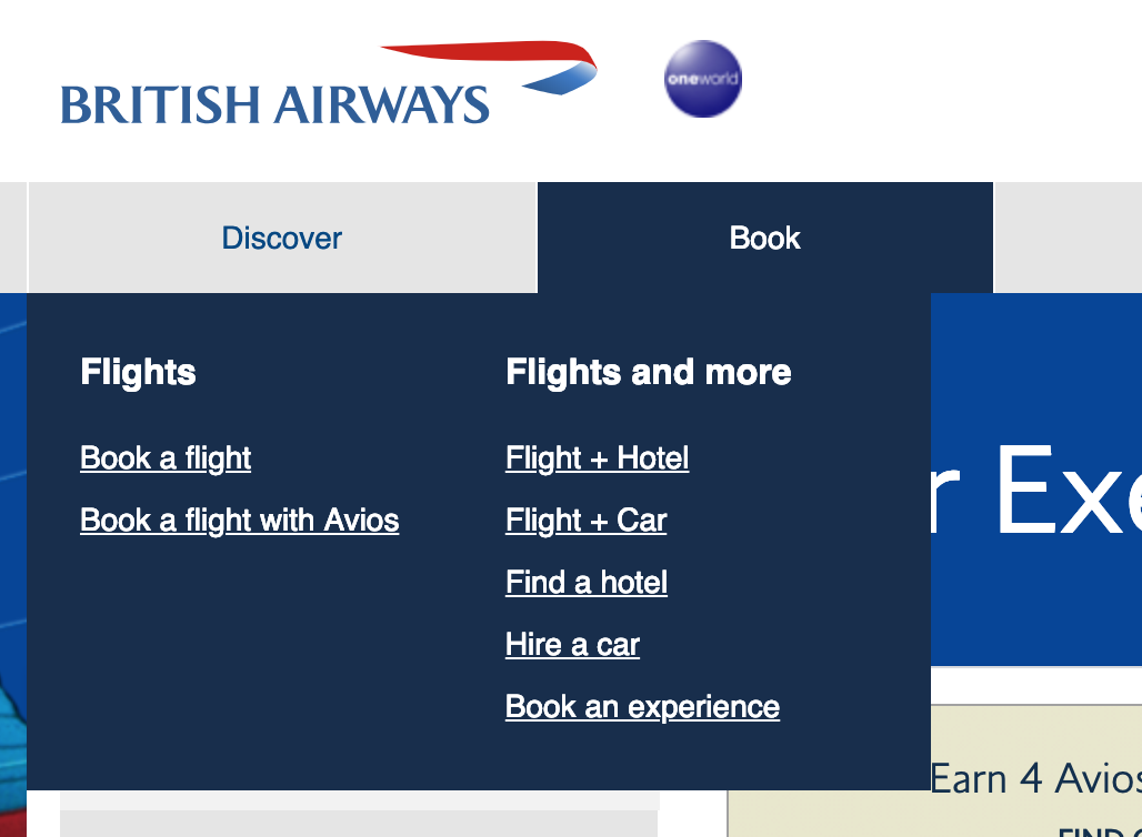 BA book a flight with Avios