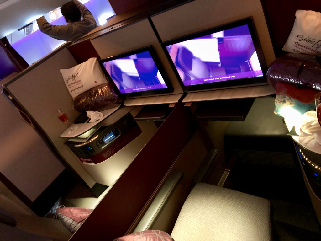 Qatar Airways Boeing 777-300ER Qsuite Business Class seats