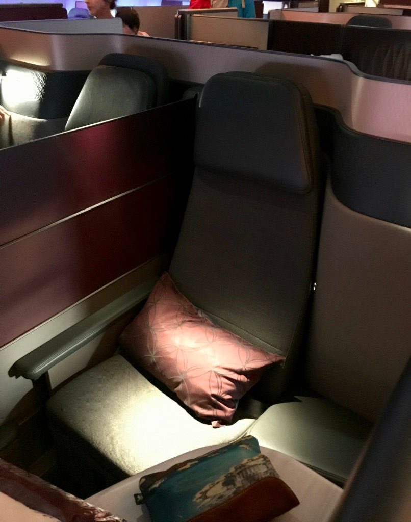 Qatar Airways Boeing 777-300ER Qsuite Business Class seat