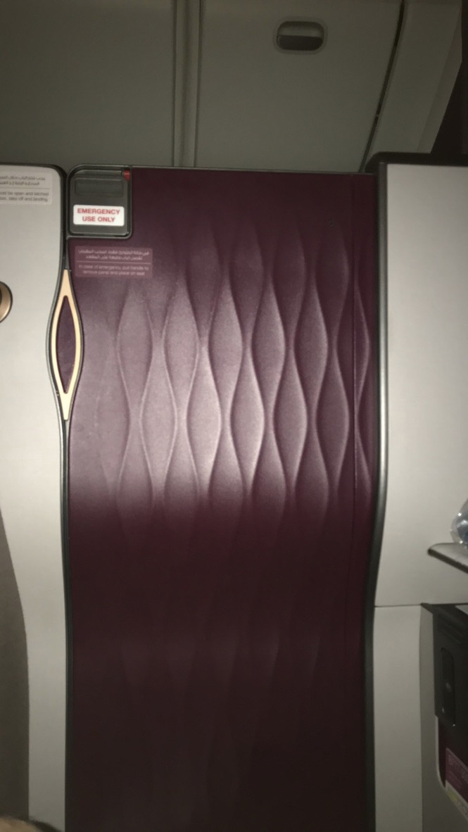 Qatar Airways Boeing 777-300ER Qsuite Business Class suite door