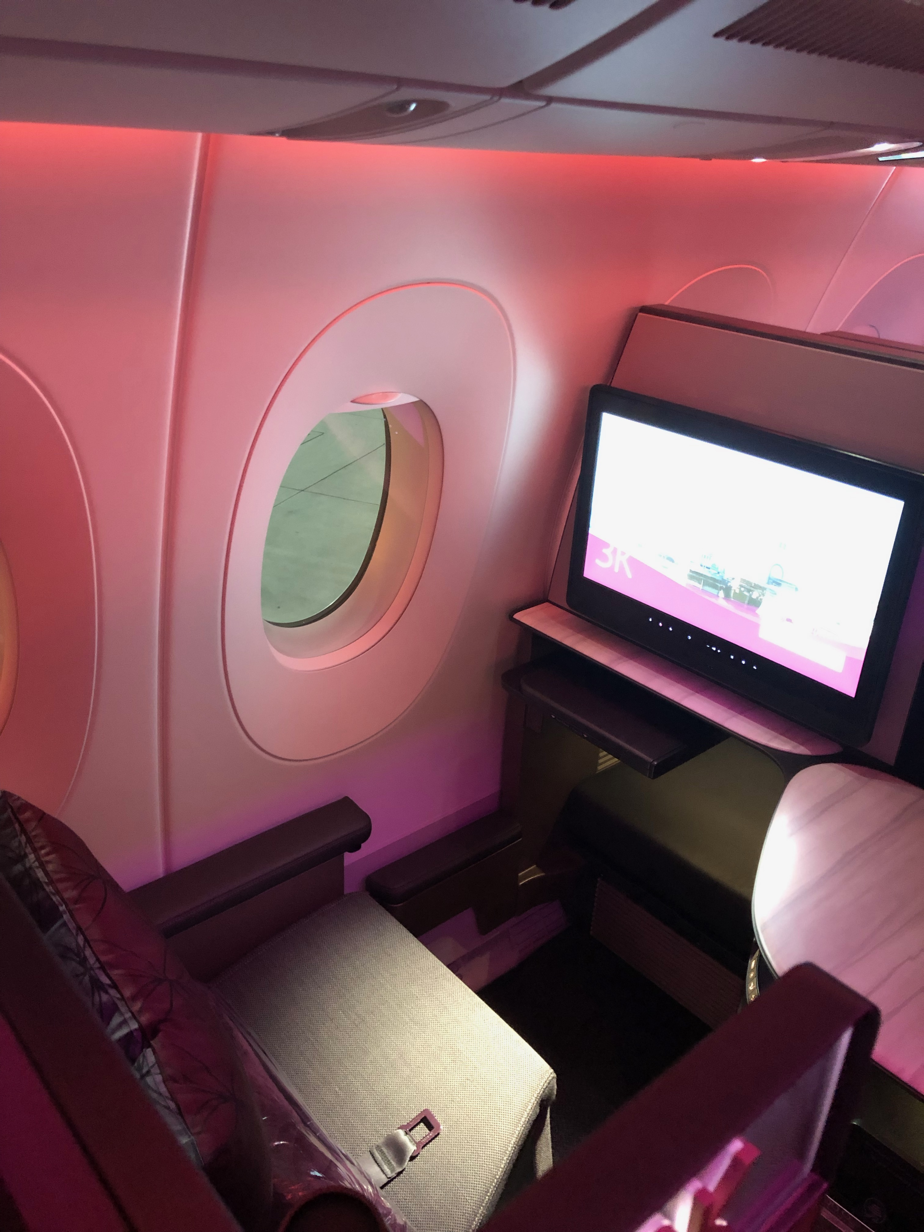Qatar Airways A350-900 Qsuite business class window seat