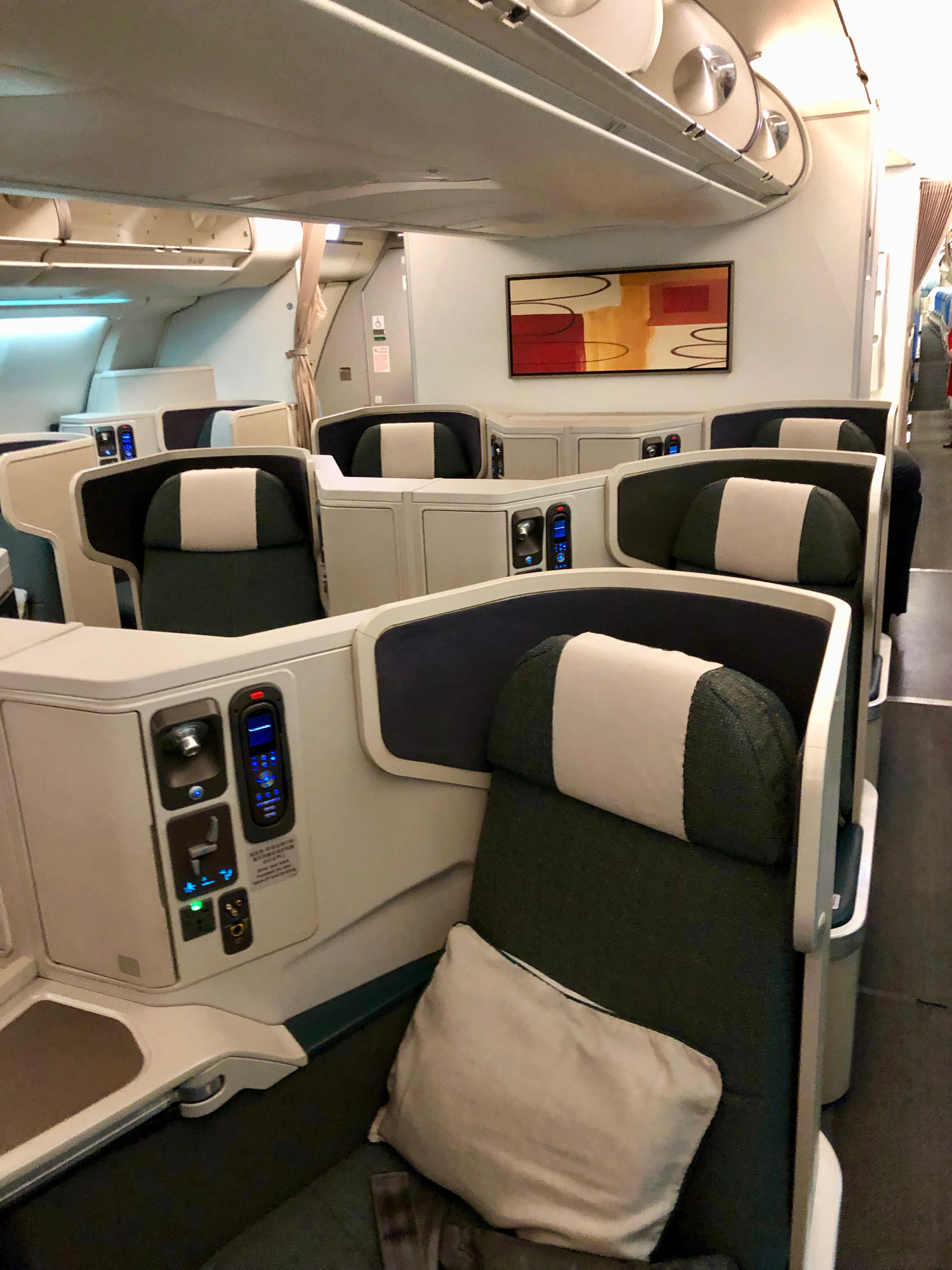 Cathay Pacific Airbus A330-300 business class cabin