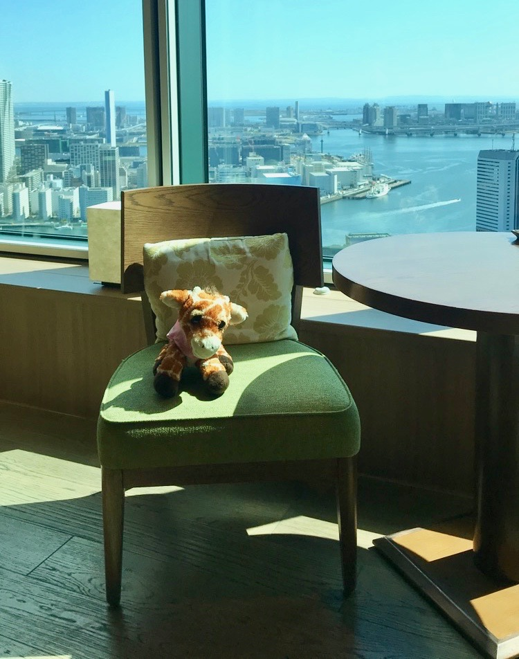 First Class Giraffe in the Conrad Tokyo Executive Lounge