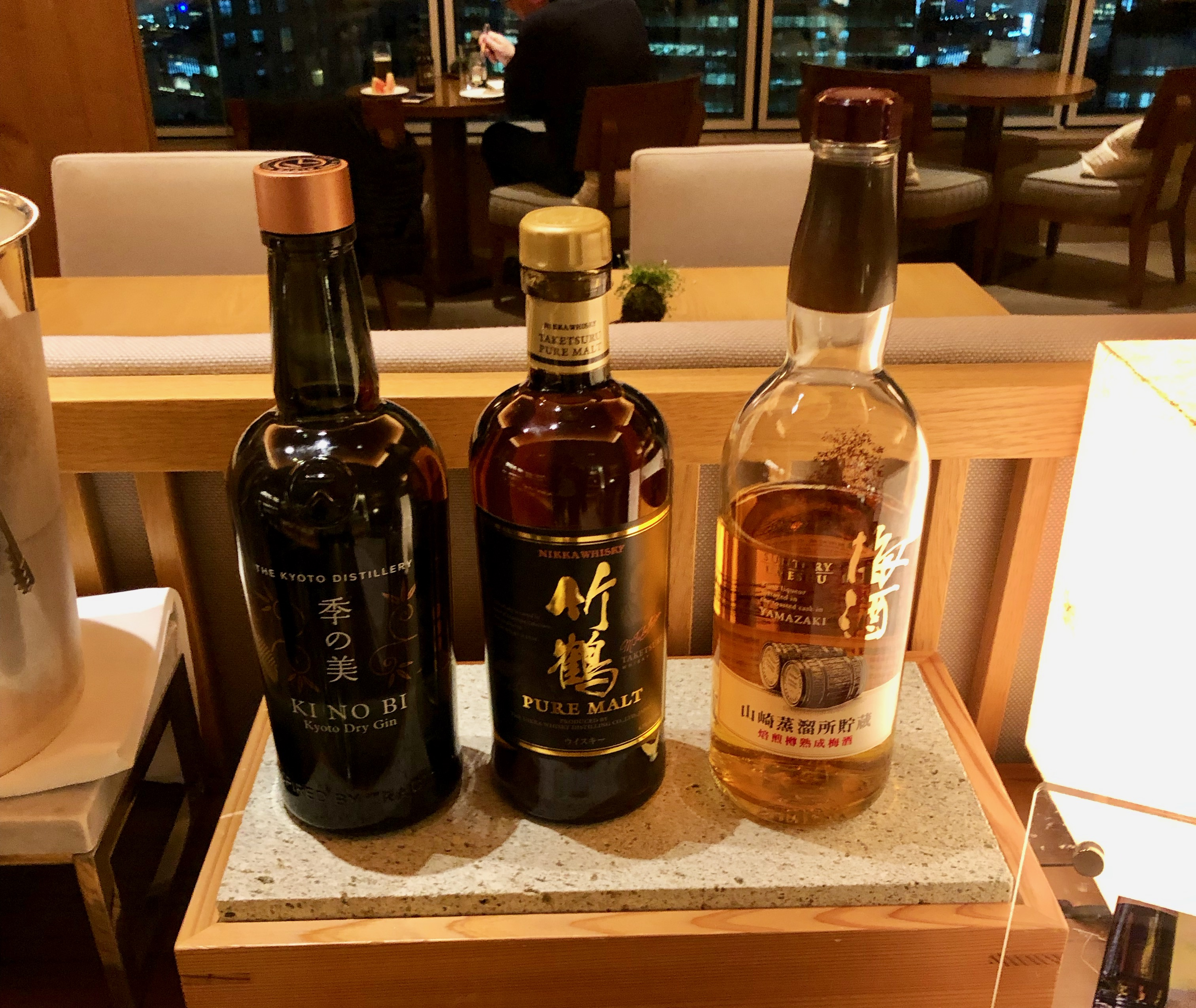 Conrad Tokyo Executive Lounge Japanese whisky selection