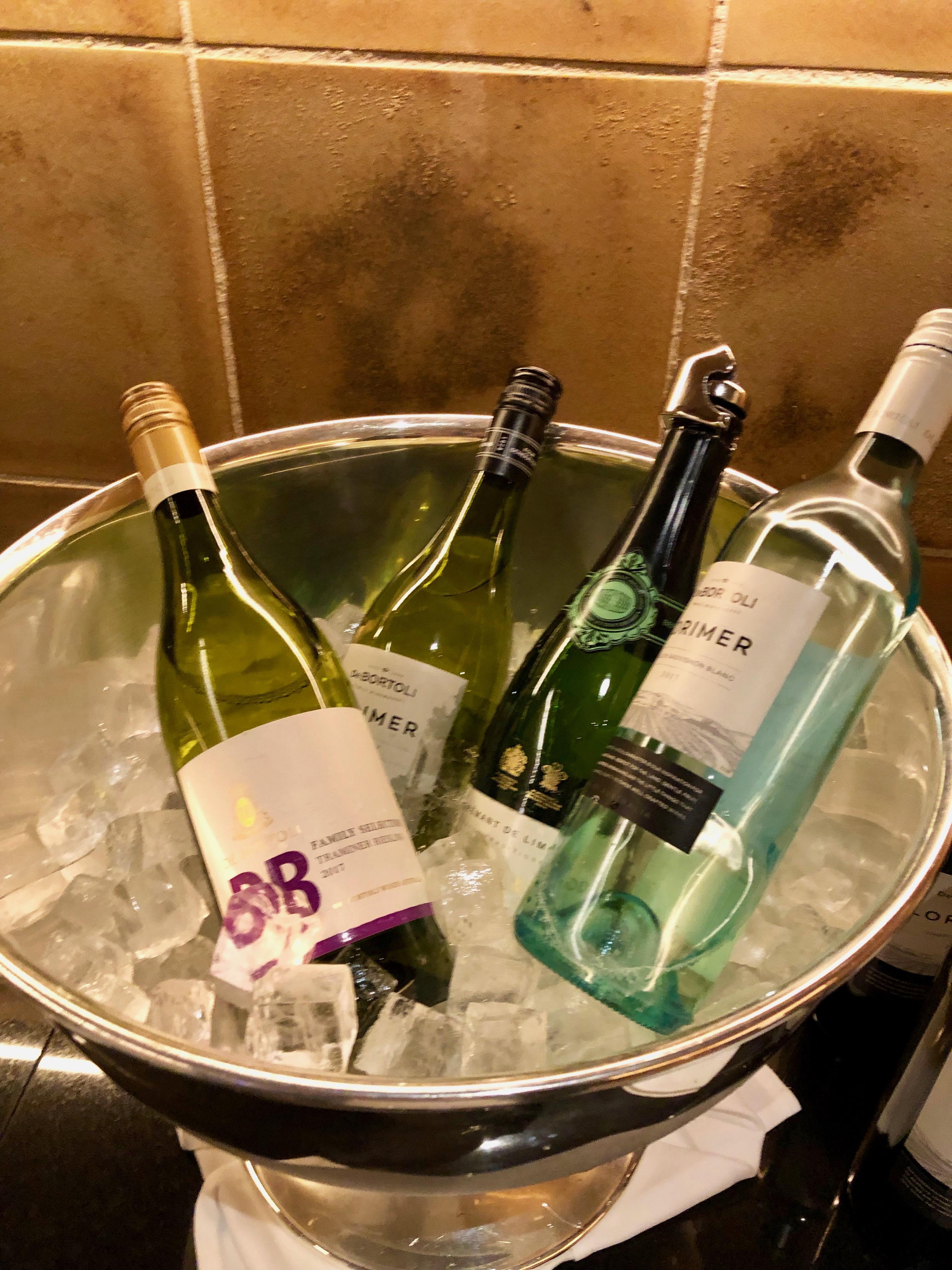Conrad Tokyo Executive Lounge white wine