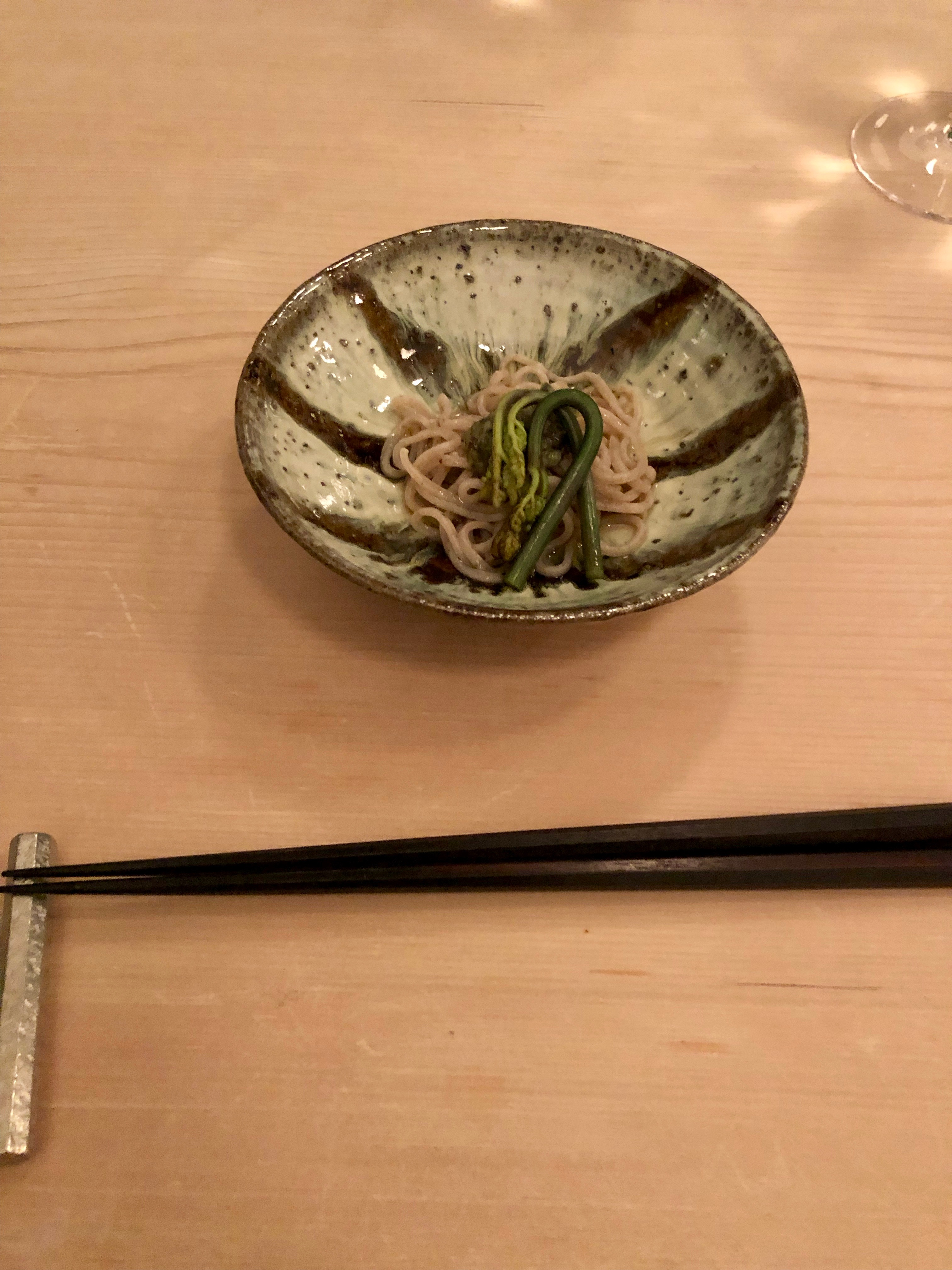 Yakumo Saryo soba noodles with bracken sprout