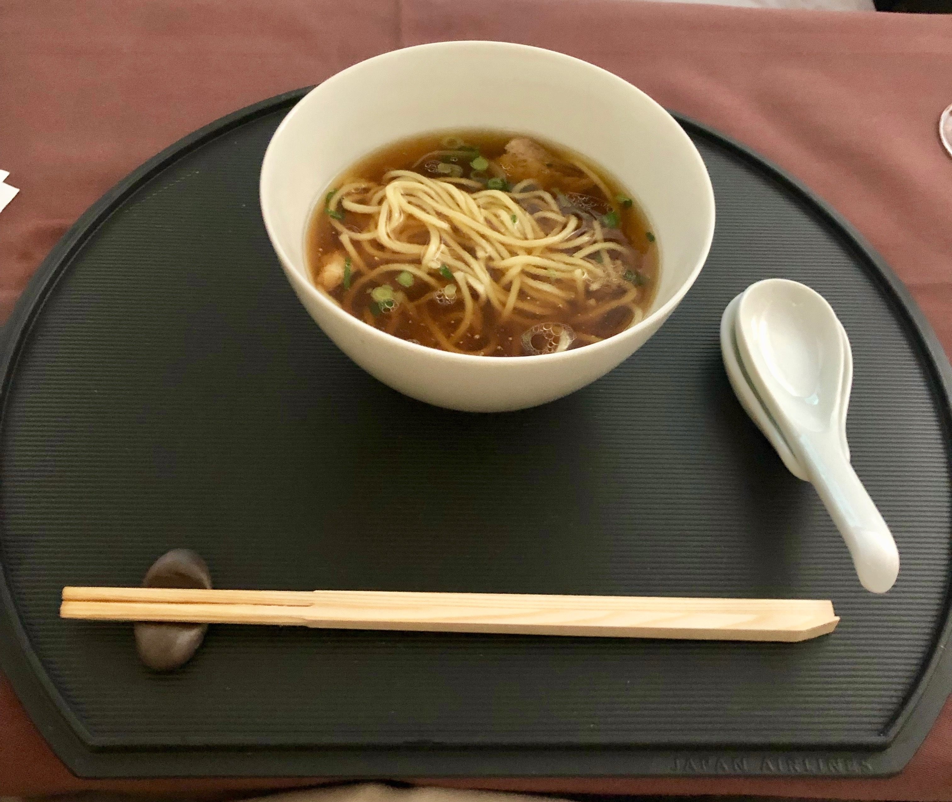 "JAL original ""Japanese soba noodles tsuta"" ramen noodles in soy sauce soup"