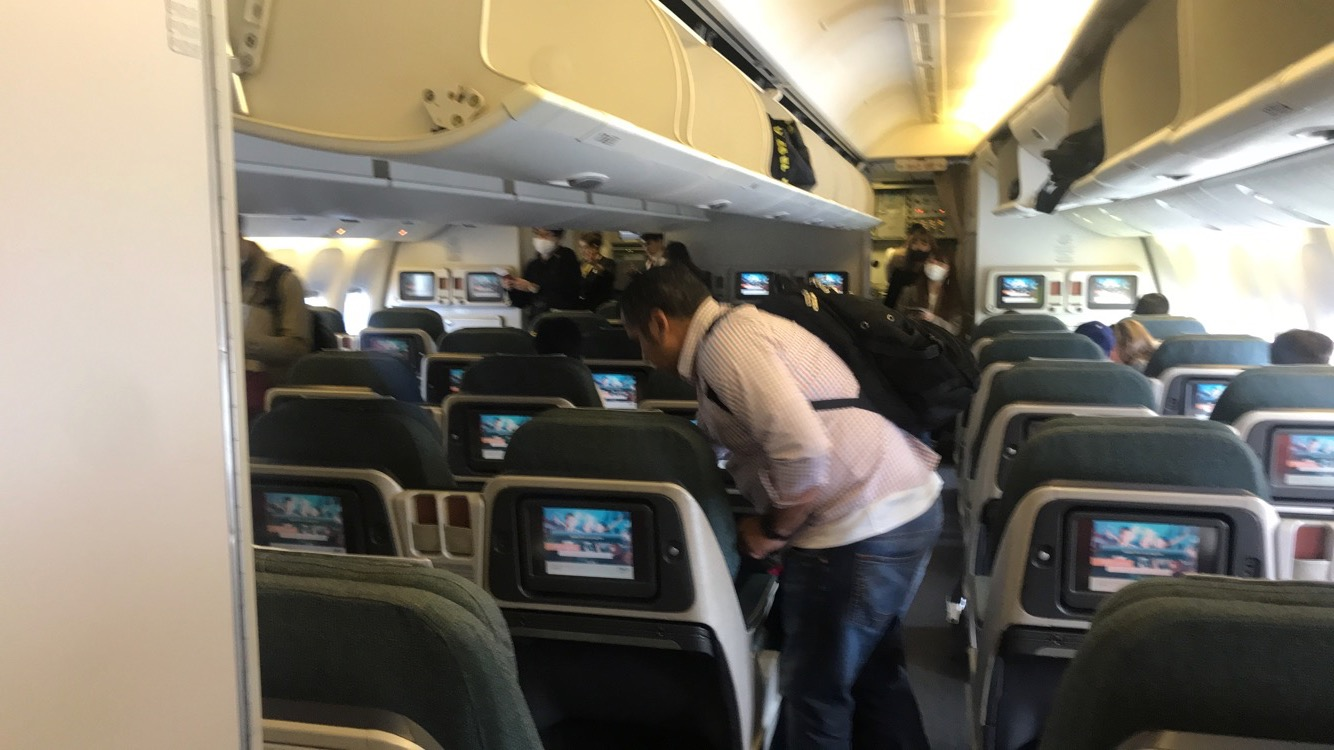 Cathay Pacific Boeing 777-300, regional business class cabin
