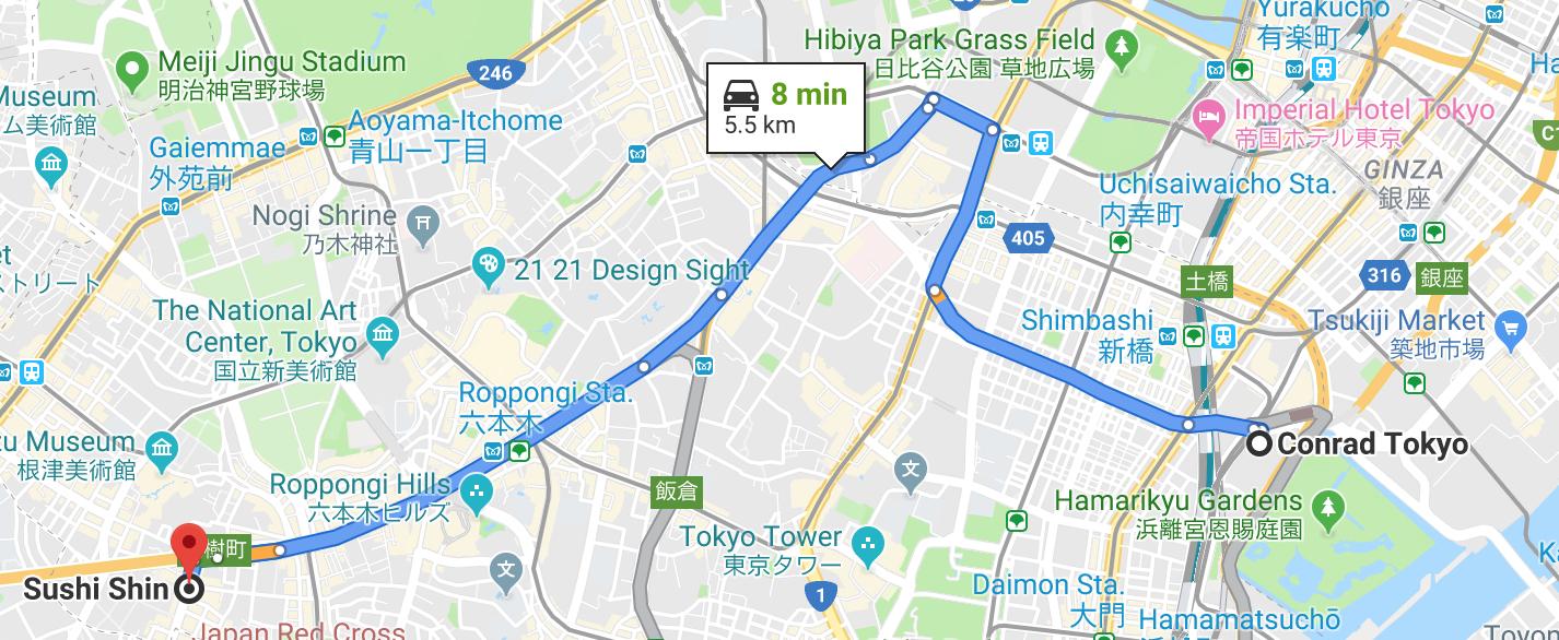 Sushi Shin location