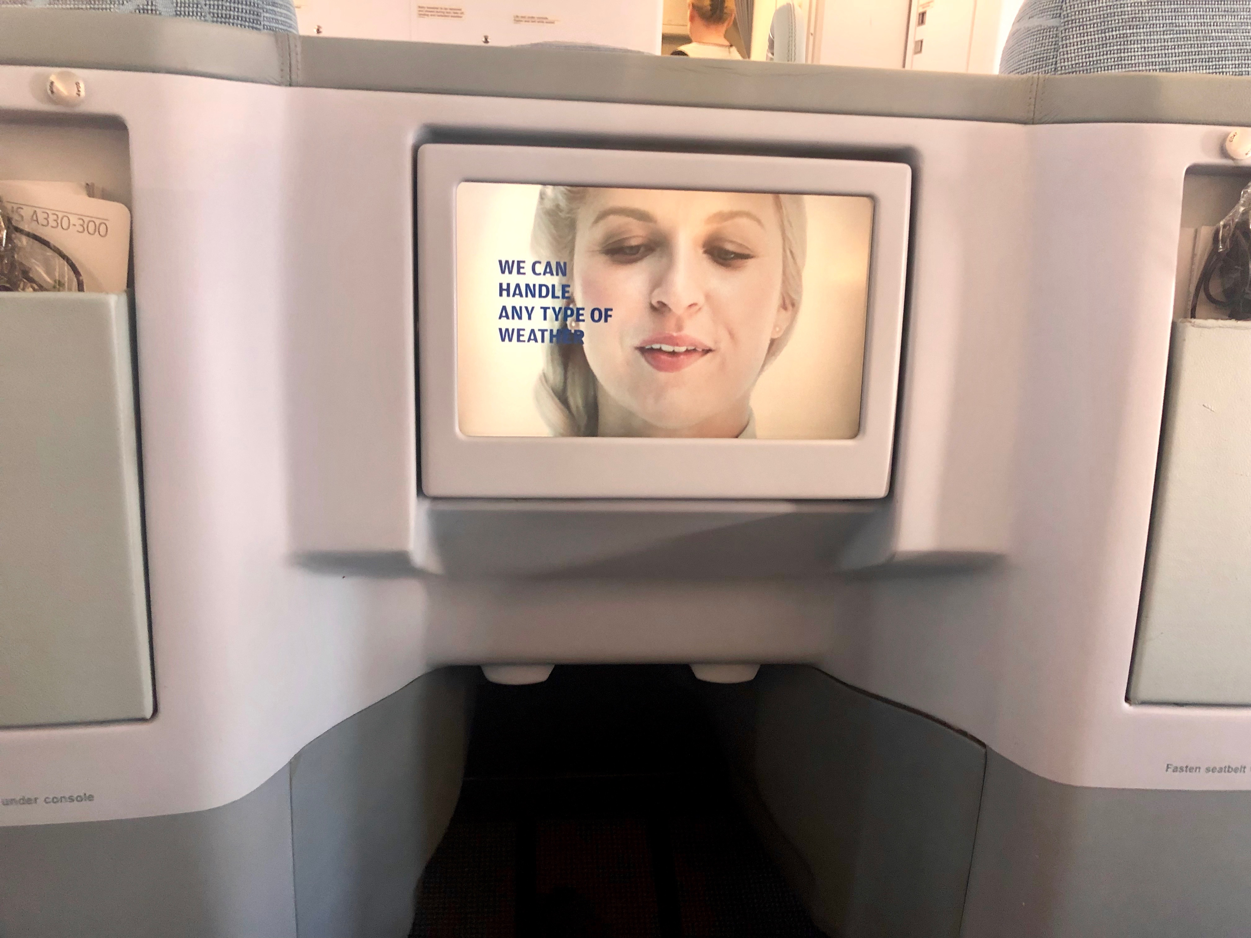Finnair A330-300 business in-flight entertainment