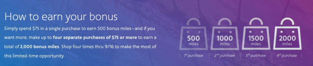 10 Million Mile Event bonus chart