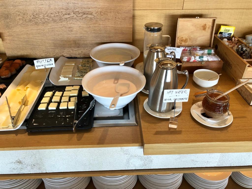 Nakar Hotel CUIT breakfast yogurt and cheeses