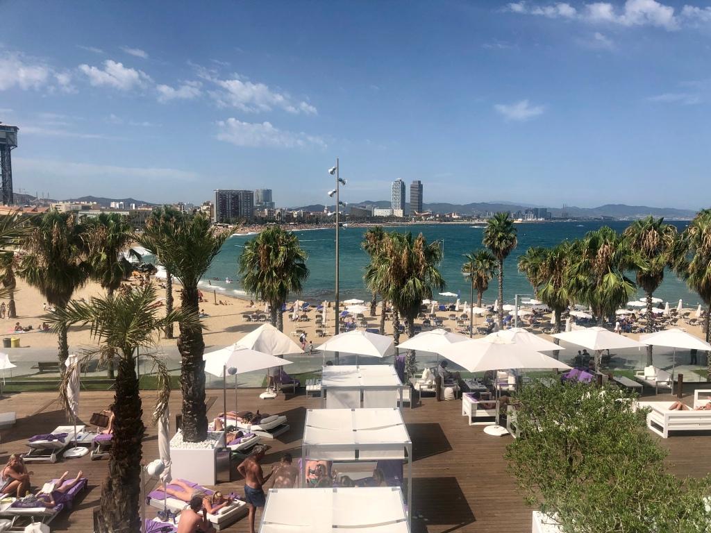 W Barcelona Wet Deck ocean view