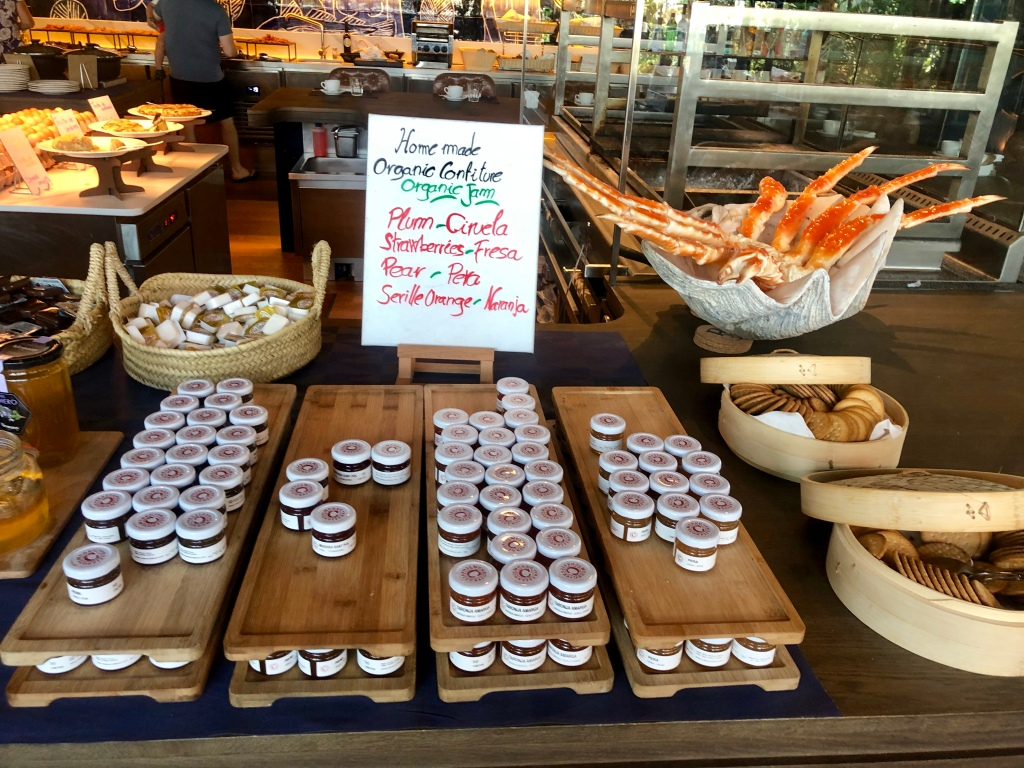 W Barcelona breakfast organic jams
