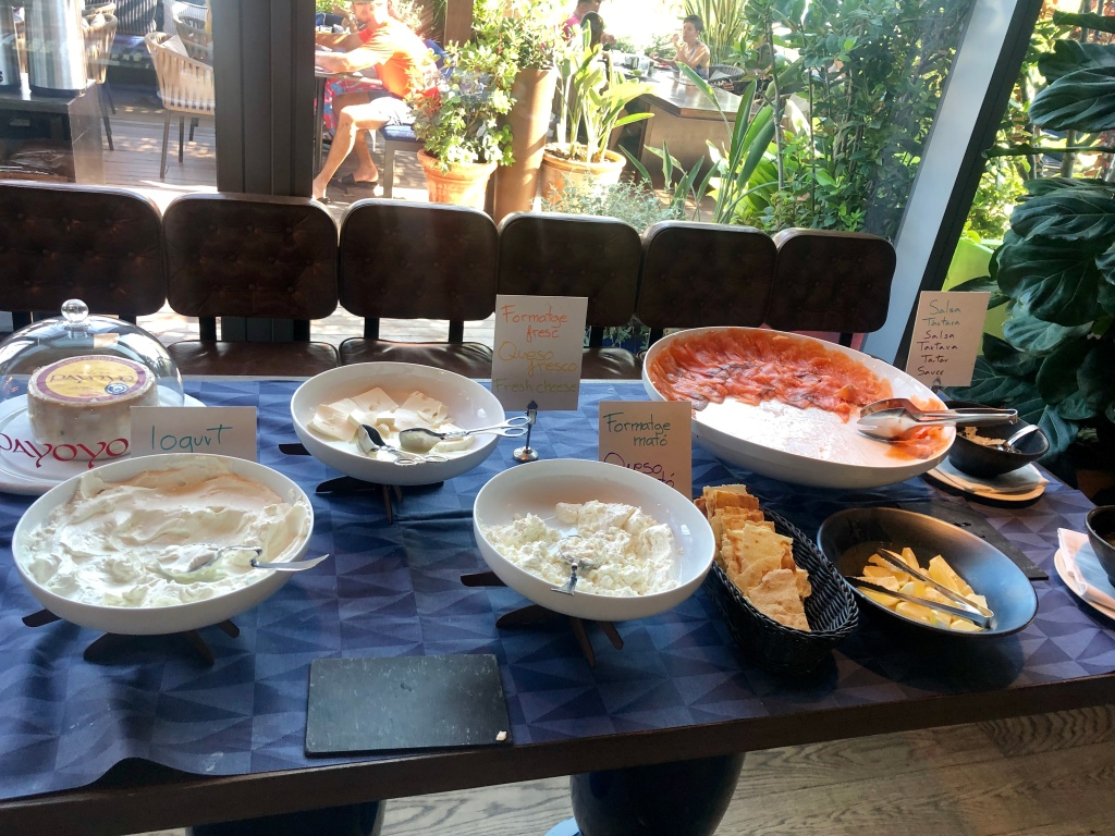 W Barcelona breakfast cheeses and smoked salmon