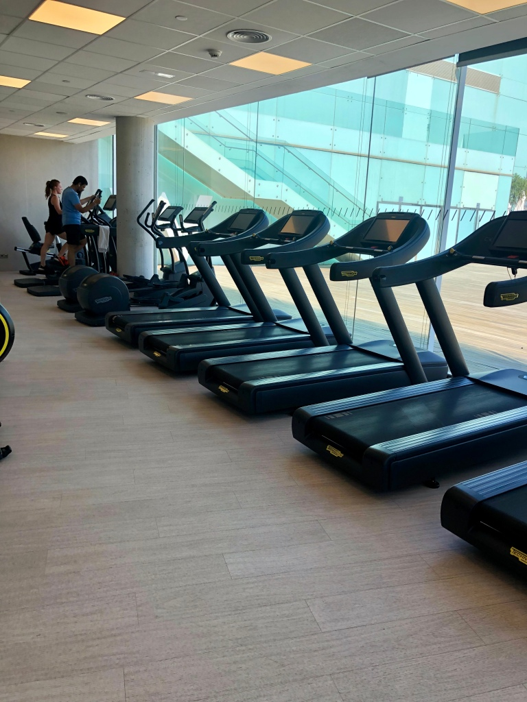 W Barcelona FIT fitness center cardio machines