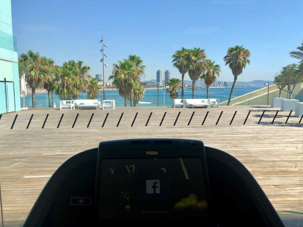 W Barcelona FIT fitness center view from treadmill