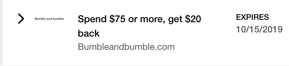 Bumble and Bumble Amex Offer