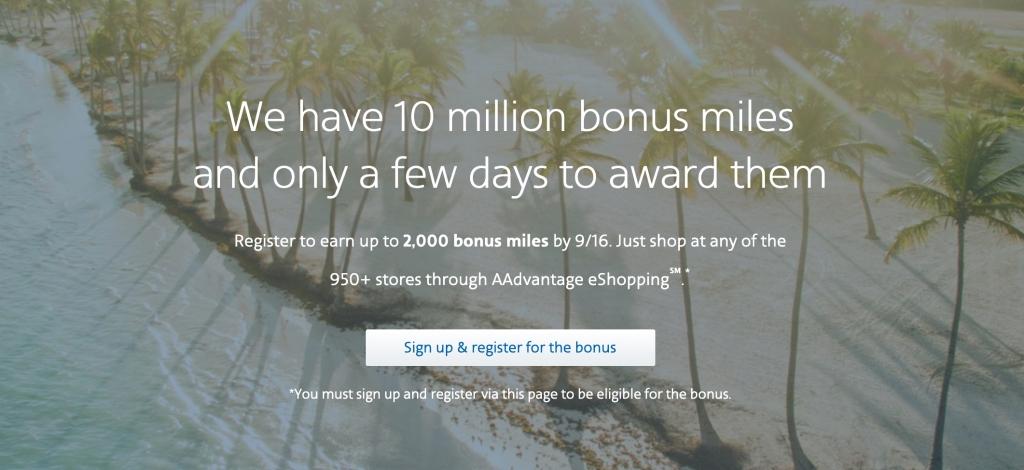 10 Million Mile Event registration landing page