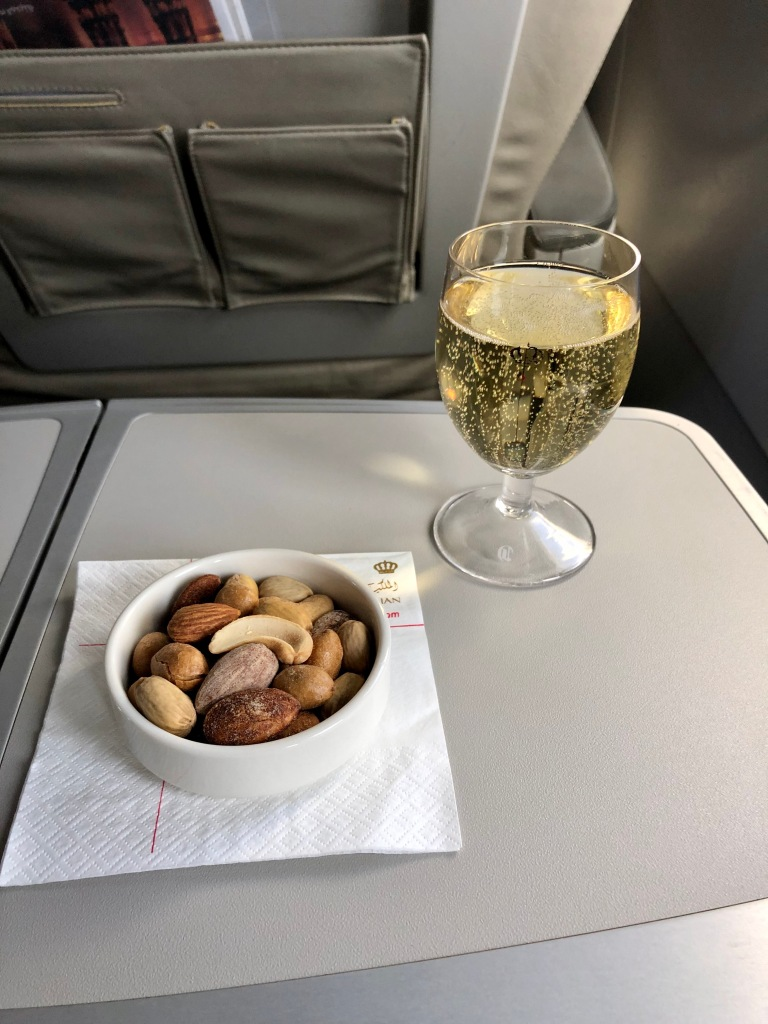 Taittinger Brut Réserve and mixed nuts