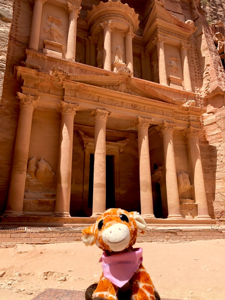 First Class Giraffe enjoying the Treasury at Petra