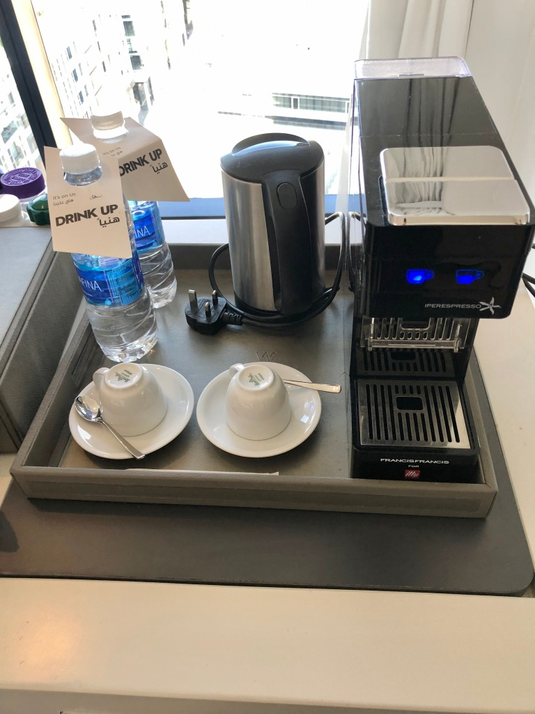 Coffee machine and complimentary waters