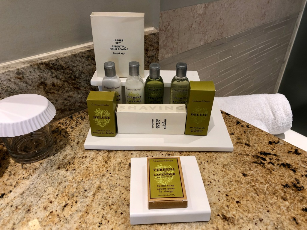 King Junior Suite bathroom amenities