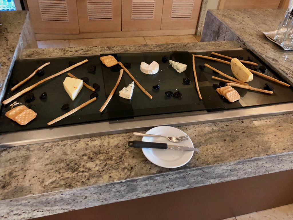 Executive Lounge cheese selection