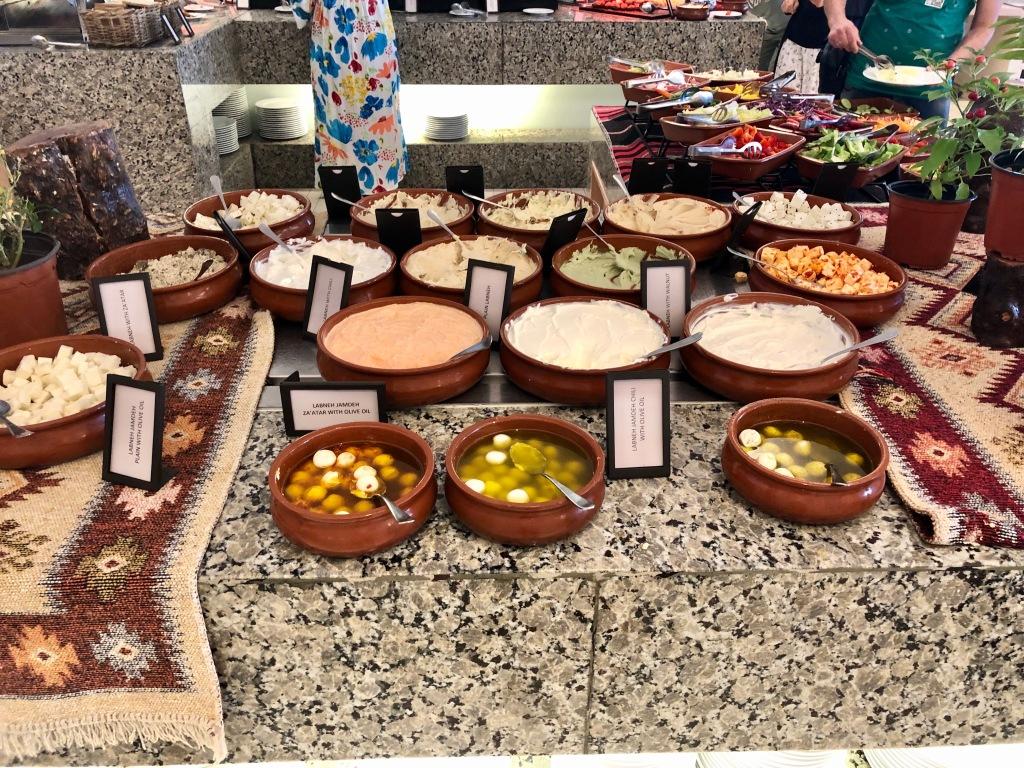 Spectrum breakfast Jordanian and Lebanese spread