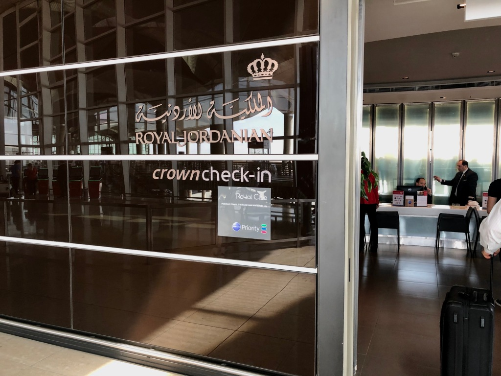 Crown business class check-in