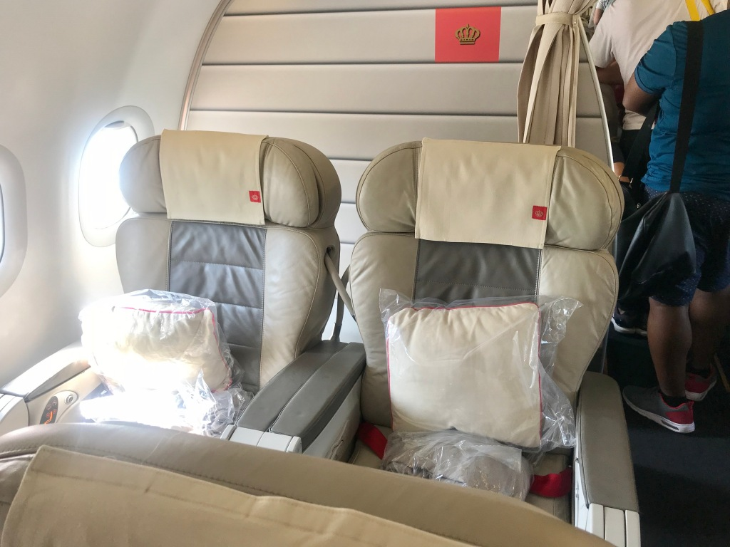 Royal Jordanian's A321 business class cabin