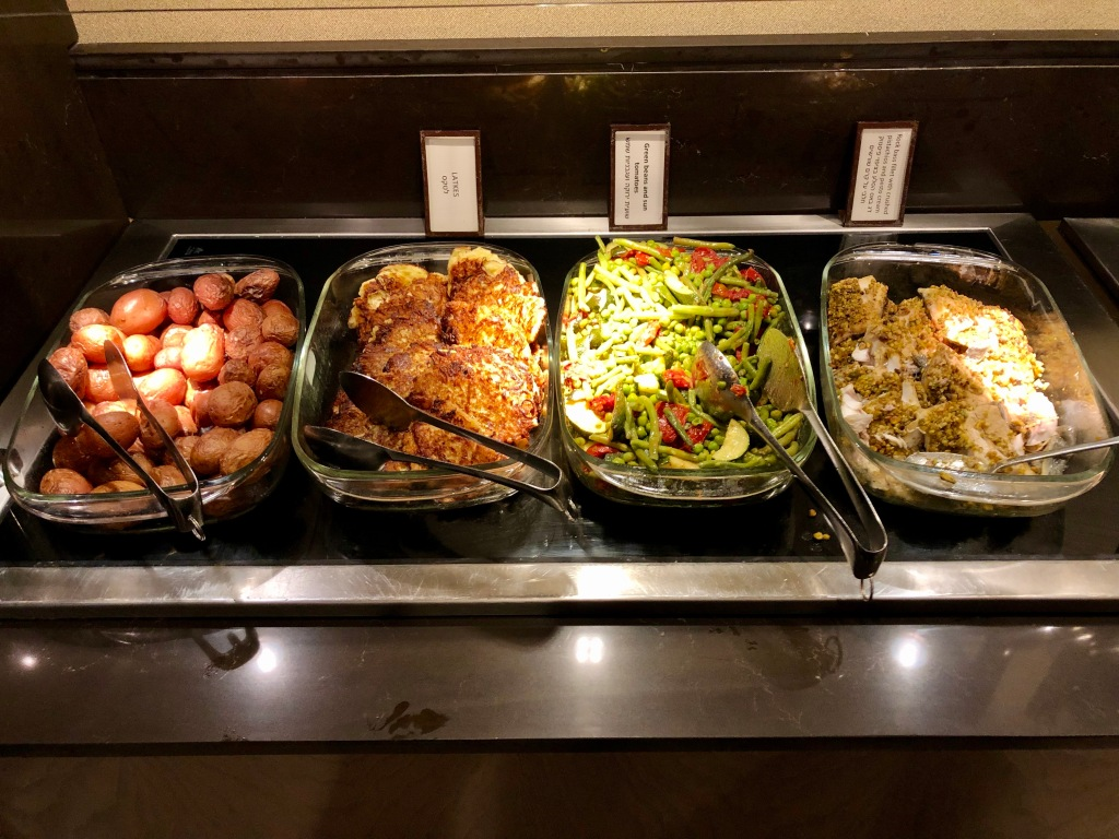 Executive Lounge dinner buffet