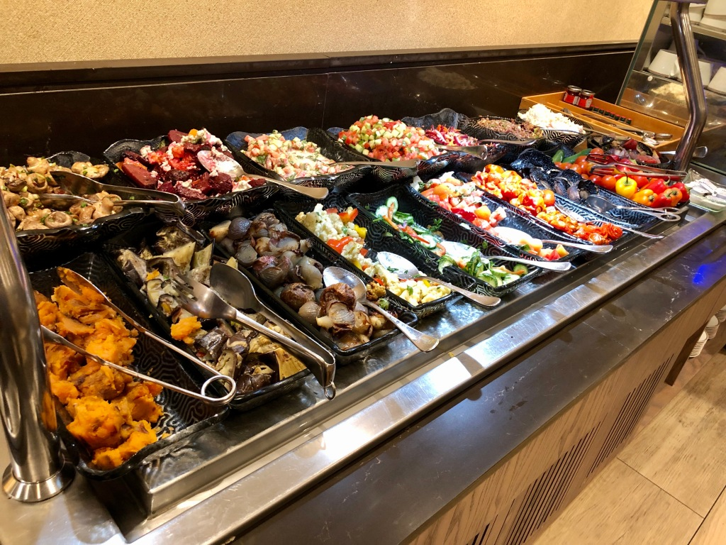 Executive Lounge dinner buffet cold food items