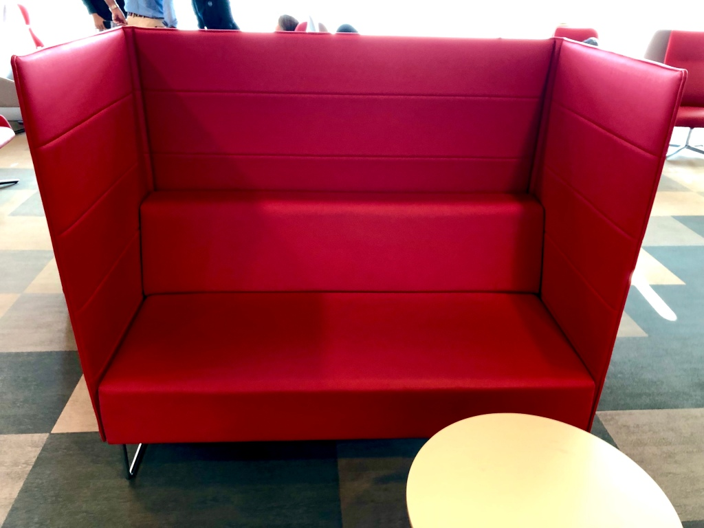 Privacy walled sofa