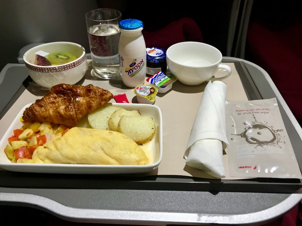 Iberia business class breakfast