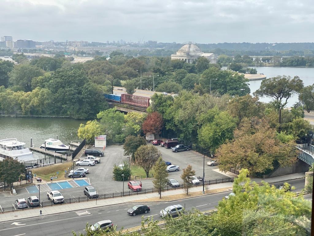 Views of the Washington Marina and Jefferson Memorial