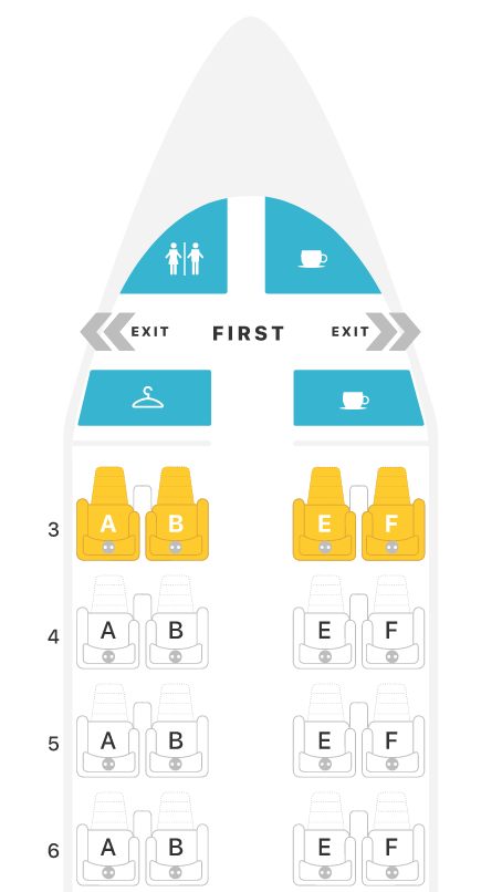 American Airlines Boeing 737-800 (738) Seat map Source: Seat Guru