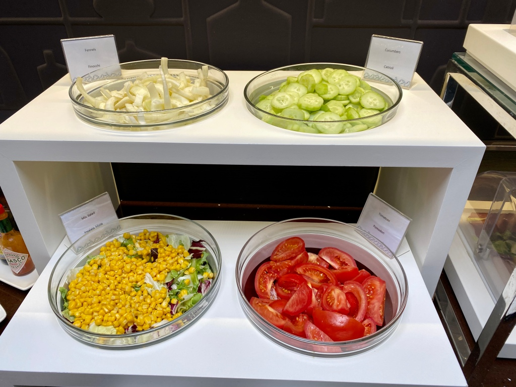 Breakfast buffet - salads