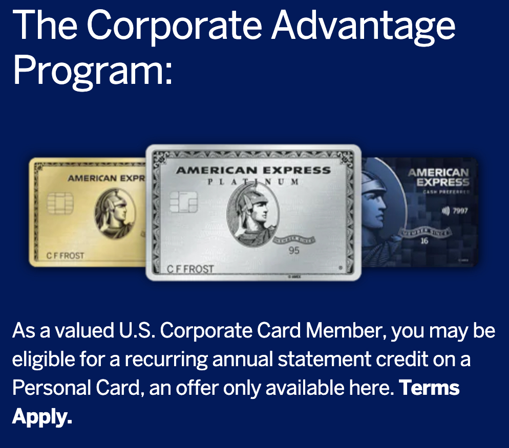 American Express Corporate Advantage Program