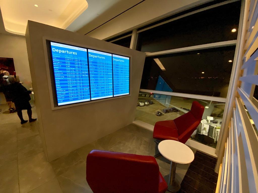 Departure screen seating