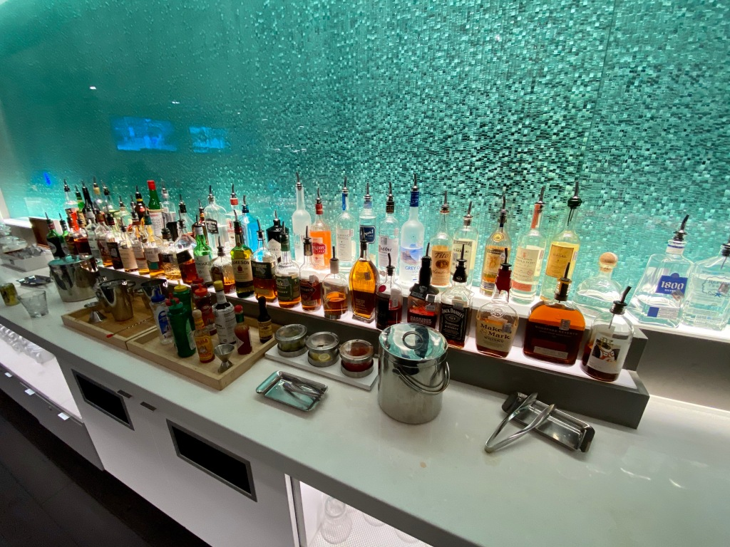 Hard liquor selection