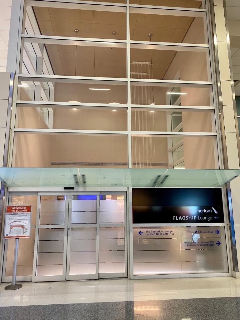 Flagship Lounge entrance