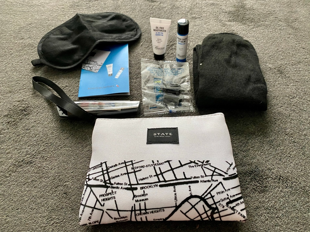 Amenity kit contents