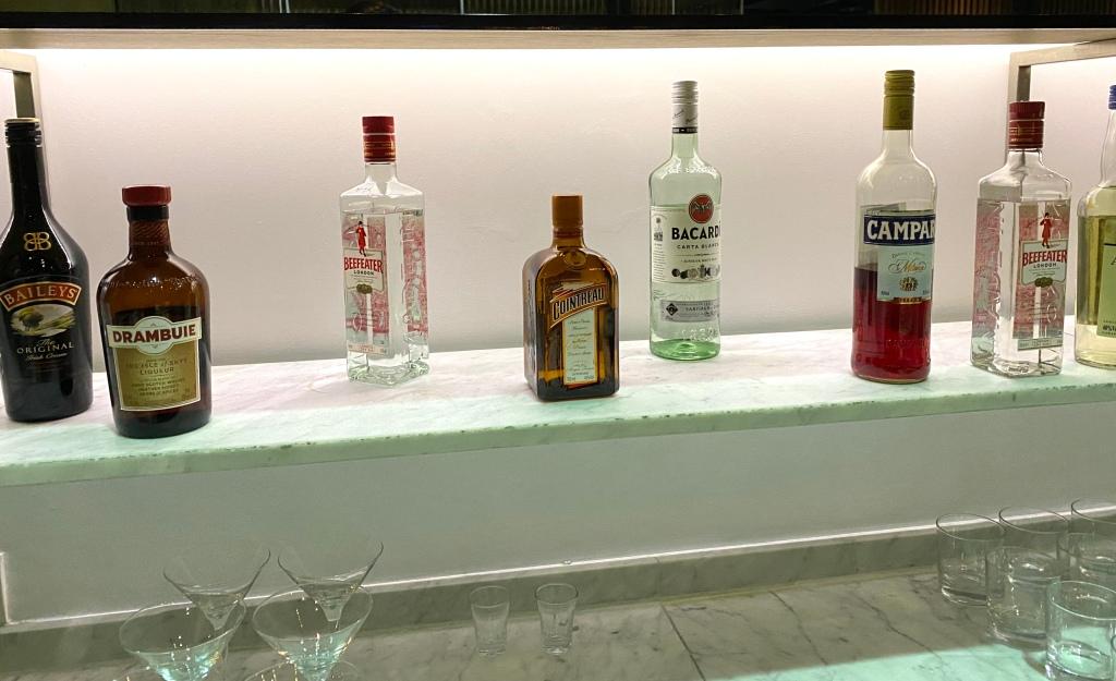 Coffee liquor, gin and rum