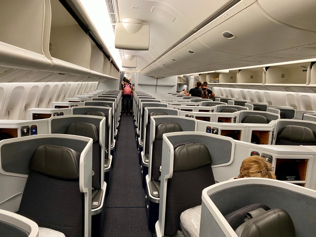 American Airlines 777-300ER business class cabin
