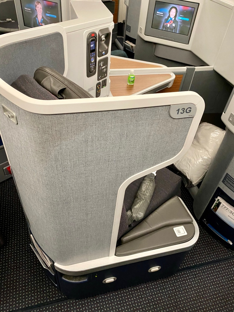 American Airlines 777-300ER business class seat