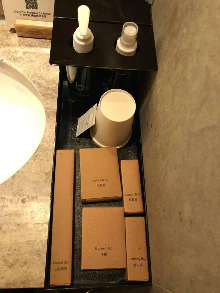 Shower suite amenities
