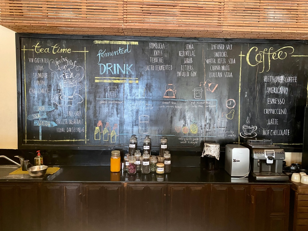 Coffee shop at the Six Senses Con Dao