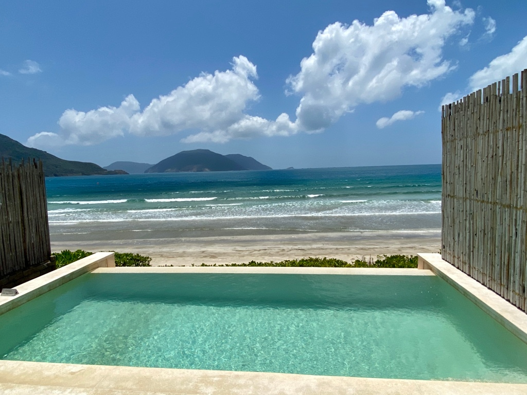 Private infinity pool at the Six Senses Con Dao