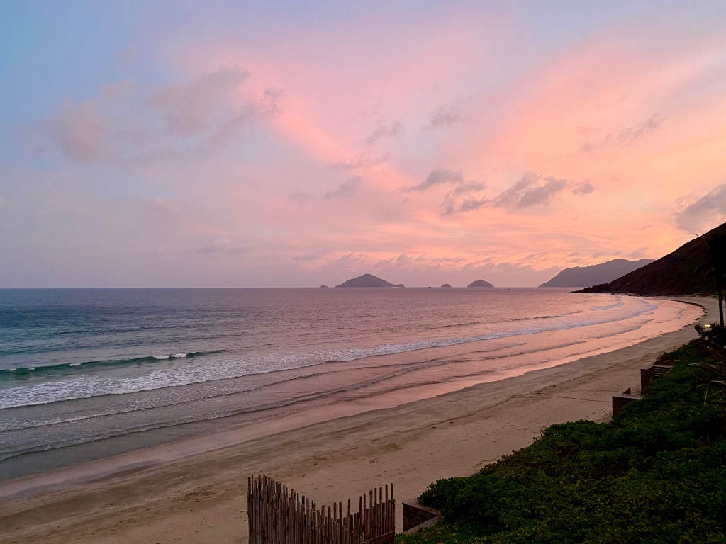Sunset view at Six Senses Con Dao